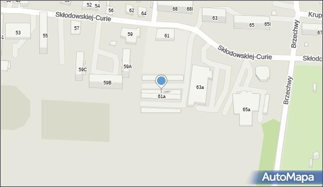 Piekary Śląskie, Skłodowskiej-Curie Marii, 61b, mapa Piekary Śląskie