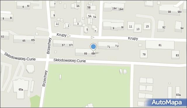Piekary Śląskie, Skłodowskiej-Curie Marii, 69I, mapa Piekary Śląskie