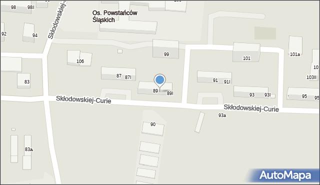 Piekary Śląskie, Skłodowskiej-Curie Marii, 89II, mapa Piekary Śląskie