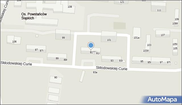 Piekary Śląskie, Skłodowskiej-Curie Marii, 91, mapa Piekary Śląskie