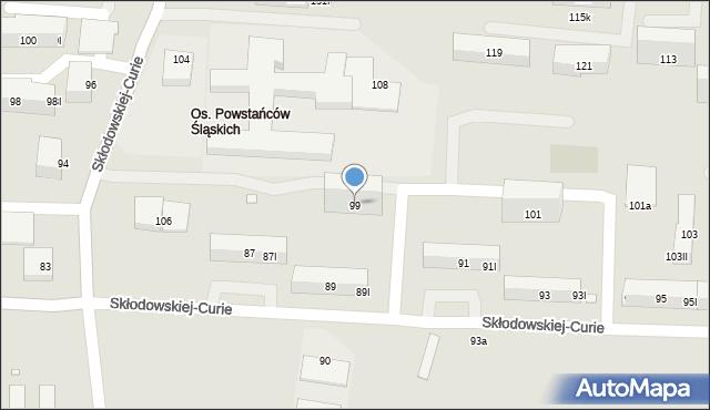 Piekary Śląskie, Skłodowskiej-Curie Marii, 99, mapa Piekary Śląskie