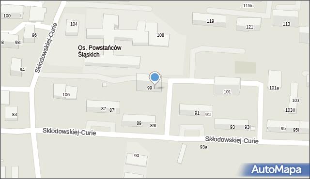 Piekary Śląskie, Skłodowskiej-Curie Marii, 99I, mapa Piekary Śląskie