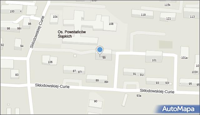 Piekary Śląskie, Skłodowskiej-Curie Marii, 99II, mapa Piekary Śląskie