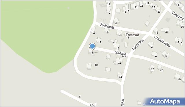 Przemyśl, Skalna, 4, mapa Przemyśla