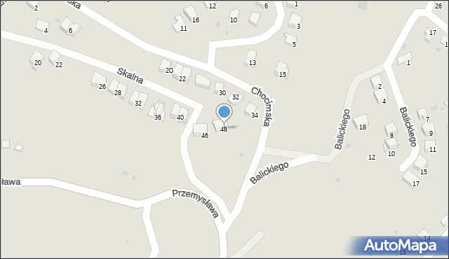 Przemyśl, Skalna, 48, mapa Przemyśla