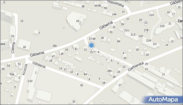 Radom, Skórzana, 11, mapa Radomia