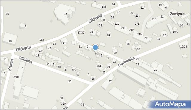 Radom, Skórzana, 7, mapa Radomia