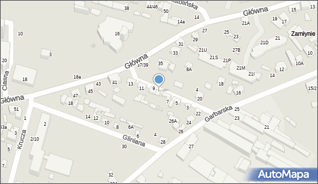 Radom, Skórzana, 9A, mapa Radomia