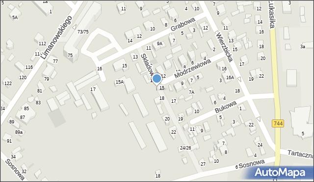 Radom, Składowa, 16, mapa Radomia