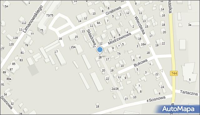 Radom, Składowa, 18, mapa Radomia