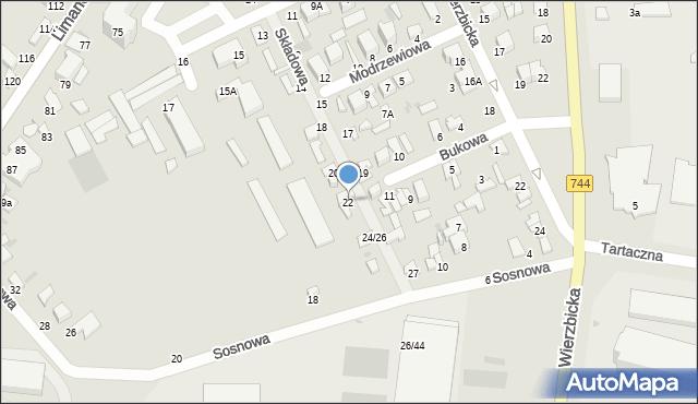Radom, Składowa, 22, mapa Radomia