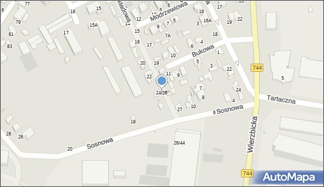 Radom, Składowa, 24/26, mapa Radomia