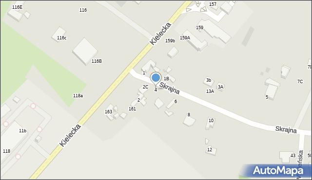 Radom, Skrajna, 4, mapa Radomia