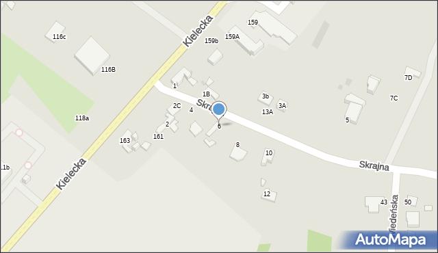 Radom, Skrajna, 6, mapa Radomia