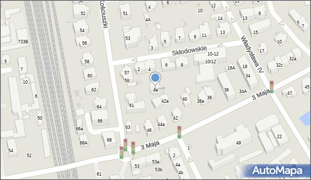 Sopot, Skłodowskiej-Curie Marii, 4a, mapa Sopotu