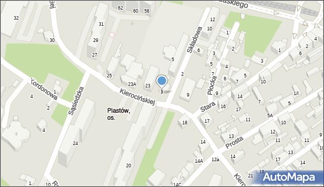 Sosnowiec, Składowa, 3, mapa Sosnowca