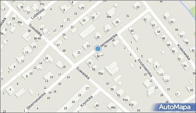Toruń, Skierniewicka, 34, mapa Torunia