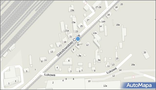 Toruń, Skłodowskiej-Curie Marii, 10, mapa Torunia