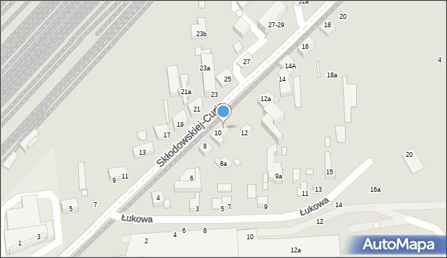 Toruń, Skłodowskiej-Curie Marii, 10a, mapa Torunia