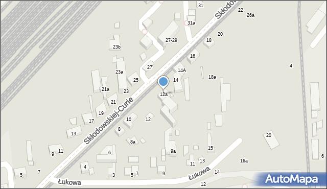 Toruń, Skłodowskiej-Curie Marii, 12a, mapa Torunia