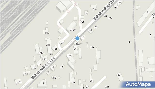 Toruń, Skłodowskiej-Curie Marii, 14A, mapa Torunia