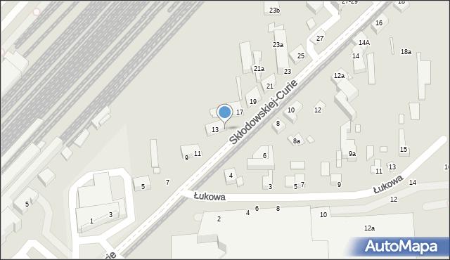 Toruń, Skłodowskiej-Curie Marii, 15, mapa Torunia