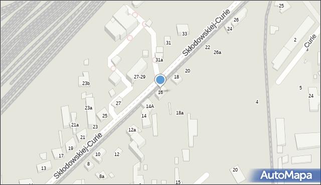 Toruń, Skłodowskiej-Curie Marii, 16, mapa Torunia