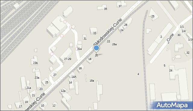 Toruń, Skłodowskiej-Curie Marii, 20, mapa Torunia