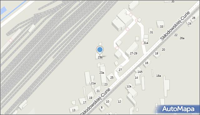 Toruń, Skłodowskiej-Curie Marii, 23b, mapa Torunia
