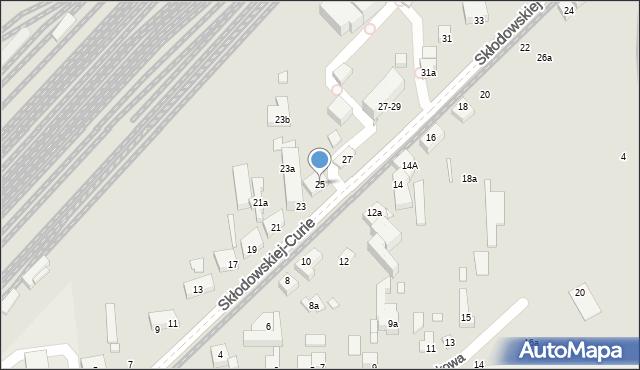 Toruń, Skłodowskiej-Curie Marii, 25, mapa Torunia