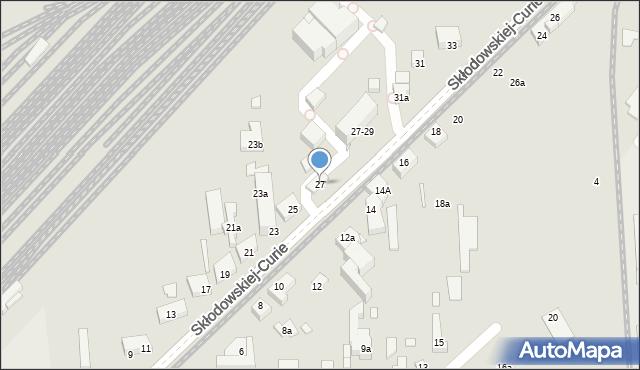 Toruń, Skłodowskiej-Curie Marii, 27, mapa Torunia