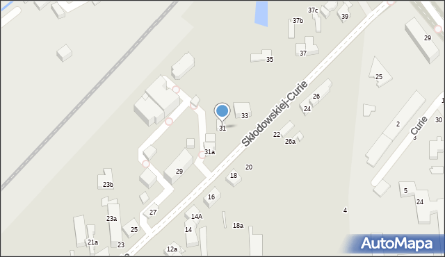 Toruń, Skłodowskiej-Curie Marii, 31, mapa Torunia