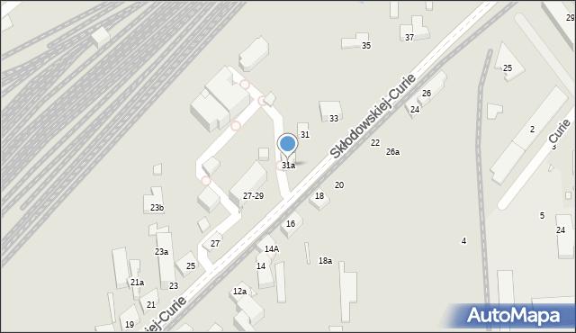 Toruń, Skłodowskiej-Curie Marii, 31a, mapa Torunia