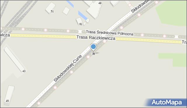 Toruń, Skłodowskiej-Curie Marii, 36, mapa Torunia