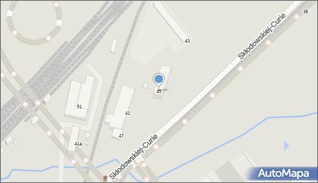 Toruń, Skłodowskiej-Curie Marii, 45, mapa Torunia