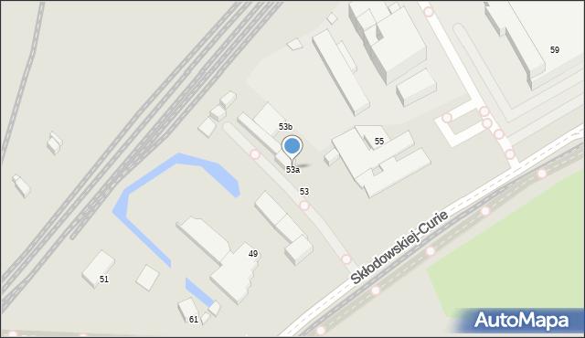 Toruń, Skłodowskiej-Curie Marii, 53a, mapa Torunia