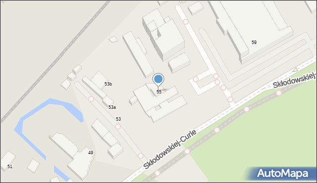 Toruń, Skłodowskiej-Curie Marii, 55, mapa Torunia