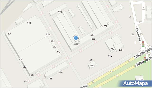 Toruń, Skłodowskiej-Curie Marii, 65d, mapa Torunia