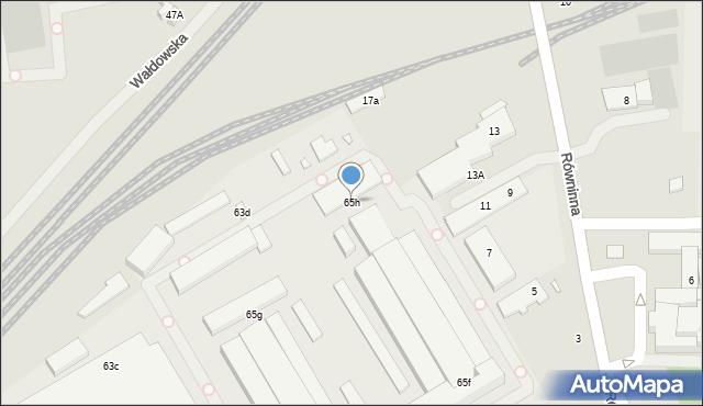 Toruń, Skłodowskiej-Curie Marii, 65h, mapa Torunia