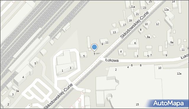 Toruń, Skłodowskiej-Curie Marii, 7, mapa Torunia