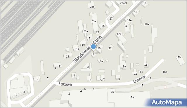 Toruń, Skłodowskiej-Curie Marii, 8, mapa Torunia