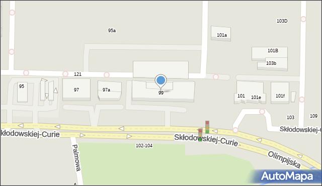 Toruń, Skłodowskiej-Curie Marii, 99, mapa Torunia