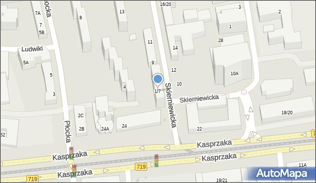 Warszawa, Skierniewicka, 1/7, mapa Warszawy
