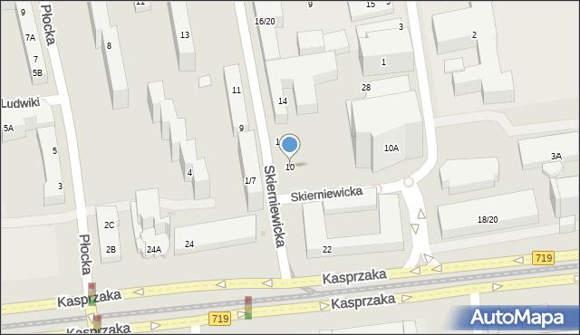Warszawa, Skierniewicka, 10, mapa Warszawy