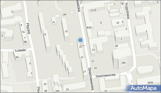 Warszawa, Skierniewicka, 11, mapa Warszawy