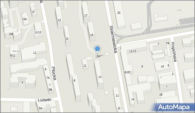 Warszawa, Skierniewicka, 13A, mapa Warszawy