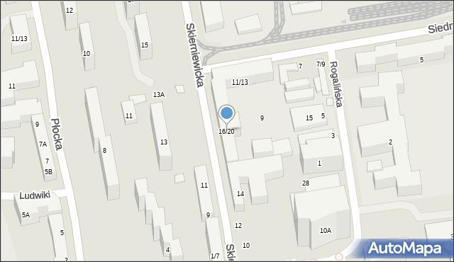 Warszawa, Skierniewicka, 16/20, mapa Warszawy