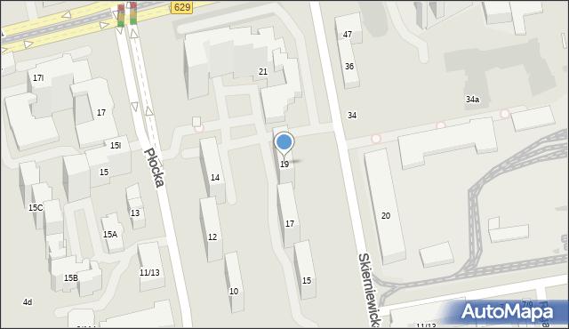 Warszawa, Skierniewicka, 19, mapa Warszawy