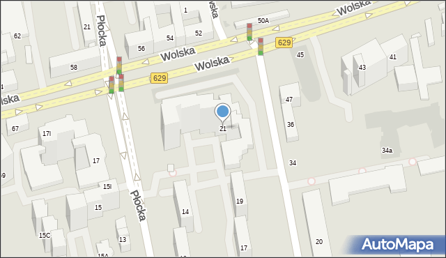 Warszawa, Skierniewicka, 21, mapa Warszawy
