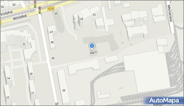 Warszawa, Skierniewicka, 34a, mapa Warszawy